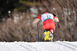 ROSIEK Kamil POL LW12 competing in the ParaSkiDeFond, Para Nordic Skiing, Sprint at  the PyeongChang2018 Winter Paralympic Games, South Korea.