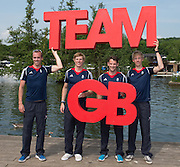Caversham, Nr Reading, Berkshire.<br /> <br /> GBR LM4_, left to right, Peter CHAMBERS,Jonno CLEGG, Chris BARTLEY and Mark ALDRED. Olympic Rowing Team Announcement  Press conference at the RRM. Henley.<br /> <br /> Thursday  09.06.2016<br /> <br /> [Mandatory Credit: Peter SPURRIER/Intersport Images]