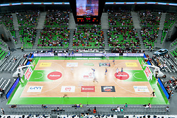 View on the basketball court at friendly match between Slovenia and Bosnia and Hercegovina for Adecco Cup 2011 as part of exhibition games before European Championship Lithuania on August 9, 2011, in SRC Stozice, Ljubljana, Slovenia. (Photo by Matic Klansek Velej / Sportida)