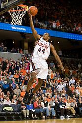 Virginia guard Sean Singletary (44) scores on a layup against Boston College.  The Virginia Cavaliers men's basketball team defeated the Boston College Golden Eagles 84-66 at the John Paul Jones Arena in Charlottesville, VA on January 19, 2008.