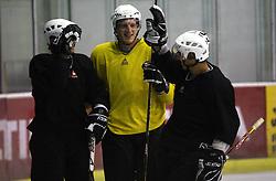 Jurij Golicic, Bostjan Groznik  at second ice hockey practice of HDD Tilia Olimpija on ice in the new season 2008/2009, on August 19, 2008 in Hala Tivoli, Ljubljana, Slovenia. (Photo by Vid Ponikvar / Sportal Images)