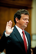 June 17, 2010 - Washington, District of Columbia, U.S., - Tony Hayward, CEO, BP PLC is sworn in before his testimony before the Senate House Energy & Commerce Committee Subcommittee Hearing on the Gulf Coat Oil Spill about the Role of BP in the Deepwater Horizon Explosion..(Credit Image: © Pete Marovich/ZUMA Press)