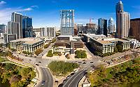 Austin City Hall from South First Street Bridge