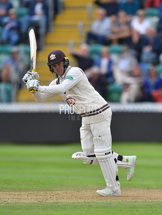 Jason Roy of Surrey during the opening day of the Specsavers County Champ Div 1 match between Somerset County Cricket Club and Surrey County Cricket Club at the Cooper Associates County Ground, Taunton, United Kingdom on 18 September 2018.