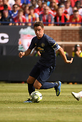 July 28, 2018 - Ann Arbor, MI, U.S. - ANN ARBOR, MI - JULY 28: Manchester United Midfielder Ander Herrera (21) in action during in the first half of the ICC soccer match between Manchester United FC and Liverpool FC on July 28, 2018 at Michigan Stadium in Ann Arbor, MI (Photo by Allan Dranberg/Icon Sportswire) (Credit Image: © Allan Dranberg/Icon SMI via ZUMA Press)
