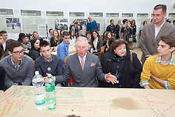 15.03.2016, Osijek, CRO, der Britische Kronprinz Charles und seine Frau Camilla besuchen Kroatien, im Bild Prince of Wales and the Duchess of Cornwall visited Osijek. The visit began at St. Holy Trinity Square at Tvrdja, and continued in the Archaeological Museum. EXPA Pictures © 2016, PhotoCredit: EXPA/ Pixsell/ Vlado Kos/Cropix/POOL<br /> <br /> *****ATTENTION - for AUT, SLO, SUI, SWE, ITA, FRA only*****