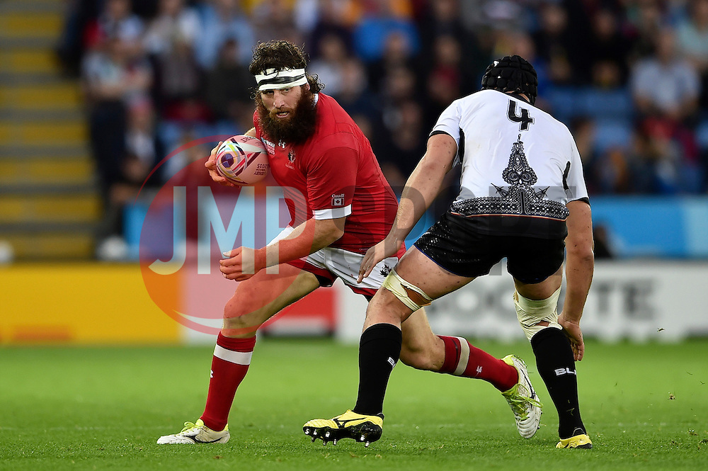 Hubert Buydens of Canada in possession - Mandatory byline: Patrick Khachfe/JMP - 07966 386802 - 06/10/2015 - RUGBY UNION - Leicester City Stadium - Leicester, England - Canada v Romania - Rugby World Cup 2015 Pool D.