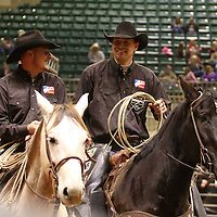 Libby Ezell | BUY AT PHOTOS.DJOURNAL.COM<br /> Wranglers at the NE Mississippi Championship Rodeo made sure that every animail was taken out of the arena safely