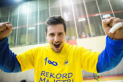 Matevz Skok of Celje PL celebrate after winning during handball match between RK Gorenje Velenje and RK Celje Pivovarna Lasko in Final match of 1st NLB League - Slovenian Championship 2013/14 on May 23, 2014 in Rdeca dvorana, Velenje, Slovenia. RK Celje Pivovarna Lasko became 18-times Slovenian National Champion. Photo by Vid Ponikvar / Sportida