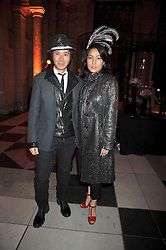 ANDY & PATTI WONG at Hats - an antology of Stephen Jones held at the V&A, London on 23rd February 2009.