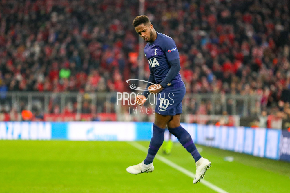 Goal! Tottenham Hotspur midfielder Ryan Sessegnon (19) scores a goal and celebrates 1-1 during the Champions League match between Bayern Munich and Tottenham Hotspur at Allianz Arena, Munich, Germany on 11 December 2019.
