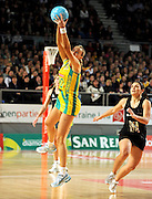 Renae Hallinan (AUS)<br /> Netball - 2009 Holden International Test Series<br /> Australian Diamonds v New Zealand Silver Ferns<br /> Wednesday 9 September 2009<br /> Hisense Arena, Melbourne AUS<br /> © Sport the library / Jeff Crow