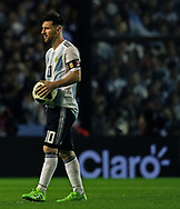 Argentina's Lionel Messi during the international friendly football match against Haiti at Boca Juniors' stadium La Bombonera in Buenos Aires, on May 29, 2018. (Alejandro PAGNI / PHOTOXPHOTO)