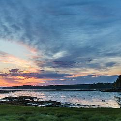 Dawn on Thompson Island in Maine's Acadia National Park.