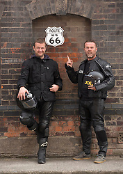 Repro Free: 16/09/2014 <br /> Irish comedians PJ Gallagher and Eric Lalor are pictured as they prepair to join over 60 motorcyclists from all over Ireland and depart on September 21st from Dublin for Chicago where they will begin their 2,444 mile journey across America, riding up Sunset Boulevard 12 days later. Now, in its 7th year, Irish comedians PJ Gallagher and Joe.ie writer Eric Lalor will leather up and take on the mother of all mother roads to help this group raise over &euro;250,000 for sick kids in Ireland.  This is a bi-annual trip and it has been running since 2002. It sees Temple Street&rsquo;s big-hearted bikers travel through 9 states and 4 different time zones; from Illinois through Missouri, Oklahoma, Kansas, Texas, New Mexico, Arizona, Nevada and finally California. As they ride this wonderful road, always on their minds are the brave little patients in Temple Street that urgently need the best possible care that can be given to them. Picture Andres Poveda