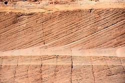Striated Sandstone, Head of the Rocks Overlook, Route 12, Utah, USA