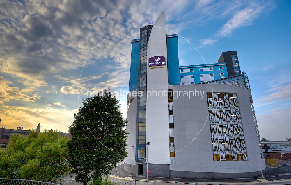 One of the tallest buildings in Hull the new Premier Inn hotel, built on its own car park