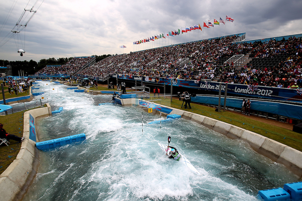 Vavrinec Hradilek of the Czech Republic competes during the semifinals of the kayak slalom single 1k event at the Lee Valley White Water Centere during day 5 of the London Olympic Games London, England, United Kingdom on August 1, 2012..(Jed Jacobsohn/for The New York Times)....