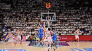 DESCRIZIONE : Campionato 2014/15 Serie A Beko Dinamo Banco di Sardegna Sassari - Grissin Bon Reggio Emilia Finale Playoff Gara6<br /> GIOCATORE : David Logan<br /> CATEGORIA : Tiro Tre Punti Three Point Controcampo Panoramica<br /> SQUADRA : Dinamo Banco di Sardegna Sassari<br /> EVENTO : LegaBasket Serie A Beko 2014/2015<br /> GARA : Dinamo Banco di Sardegna Sassari - Grissin Bon Reggio Emilia Finale Playoff Gara6<br /> DATA : 24/06/2015<br /> SPORT : Pallacanestro <br /> AUTORE : Agenzia Ciamillo-Castoria/L.Canu