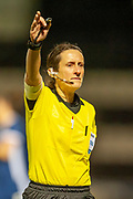 Referee Amy Fearn (England) during the Women's International Friendly match between Scotland Women and USA at the Simple Digital Arena, Paisley, Scotland on 13 November 2018.