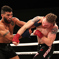 FORT LAUDERDALE, FL - FEBRUARY 15: Jim Alers (L )fights Kaleb Harris during the Bare Knuckle Fighting Championships at Greater Fort Lauderdale Convention Center on February 15, 2020 in Fort Lauderdale, Florida. (Photo by Alex Menendez/Getty Images) *** Local Caption *** Jim Alers; Kaleb Harris