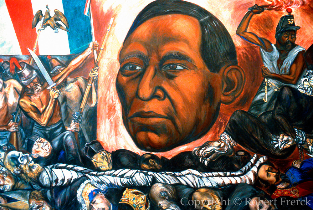 MEXICO, MEXICO CITY, MURAL Orozco's Juarez, clergy, Imperalists