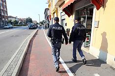 20171009 POLIZIA SUL LUOGO ARRESTO FRATELLO ATTENTATORE