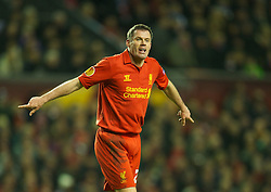 21.02.2013, Anfield, Liverpool, ENG, UEFA Europa League, FC Liverpool vs Zenit St. Petersburg, im Bild Liverpool's Jamie Carragher in action against FC Zenit St Petersburg during UEFA Europa League match between Liverpool FC and Zenit St. Petersburg at Anfield, Liverpool, Great Britain on 2013/02/21. EXPA Pictures © 2013, PhotoCredit: EXPA/ Propagandaphoto/ David Rawcliffe..***** ATTENTION - OUT OF ENG, GBR, UK *****