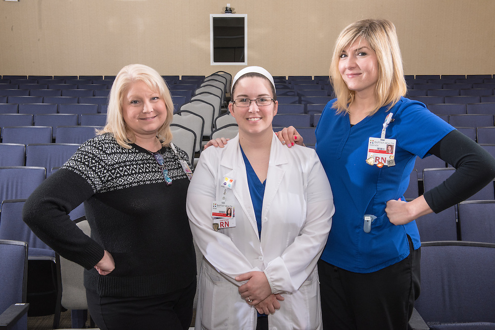 Educational advancements for the nursing annual report, photographed Friday, Feb. 12, 2016 at Baptist Health in Louisville, Ky. (Photo by Brian Bohannon)