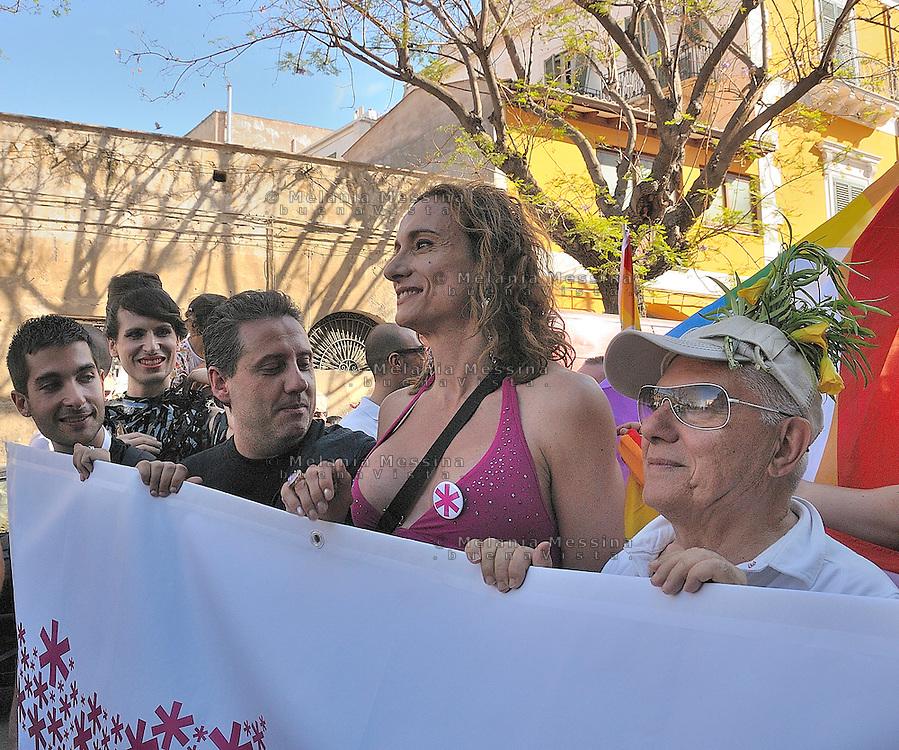 Palermo, first gay pride in Sicily, Vladimir Luxuria.<br /> Palermo, primo gay pride in Sicilia, Vladimir Luxuria.