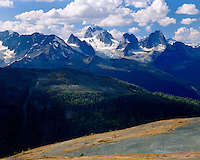 View of the Bugaboos, Purcell Range British Columbia Canada