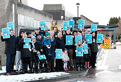 St John's Children's Ward Protest, Friday 19th January 2018<br /> <br /> Neil Findlay MSP joined a protest by parents, carers and members of the public at the continued closure of the St John&rsquo;s Children&rsquo;s ward to inpatients out of hours. <br /> <br /> The protesters with Neil Findlay MSP (left)<br /> <br /> Alex Todd | EEm 24th September 2017