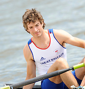 Reading, GREAT BRITIAN, GBR LM2X,  Zac PURCHASE, British Olympic Association, BOA, 2008 Beijing Olympic Rowing Team Announcement for 2008 Beijing Olympic Games, CHINA. .Redgrave and  Pinsent Rowing Lake, Caversham Training Centre, on Thursday, 26/06/2008. [Mandatory Credit:  Peter SPURRIER / Intersport Images] Rowing course: GB Rowing Training Complex, Redgrave Pinsent Lake, Caversham, Reading