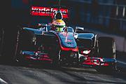 February 21, 2012: Formula One Testing, Circuit de Catalunya, Barcelona, Spain. Lewis Hamilton, McLaren-Mercedes MP4-27