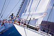Zefira sailing in the Caribbean Superyacht Regatta and Rendezvous, race 1.