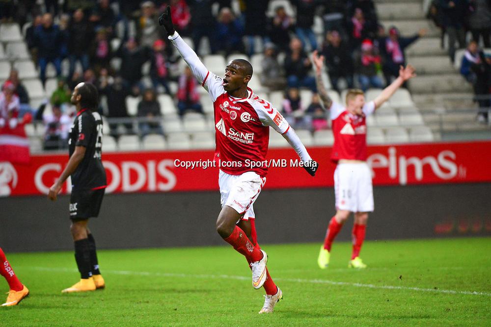 Joie Prince ONIANGUE - 07.12.2014 - Reims / Guingamp - 17eme journee de Ligue 1 -<br />Photo : Dave Winter / Icon Sport