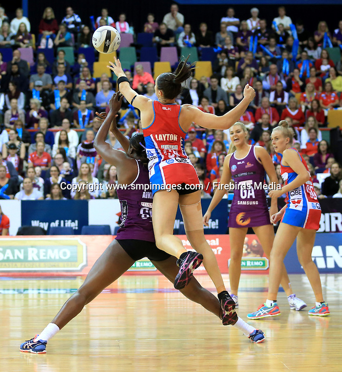 ROMELDA AIKEN (QUEENSLAND FIREBIRDS) - Photo: SMP IMAGES /Action from the ANZ Netball Championship Conference Finals clash between the Queensland Firebirds v NSW Swifts, played at the Brisbane Convention & Exhibition Centre Broadbeach, Queensland.