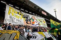 DEN HAAG - ADO Den Haag - Vitesse , Eredivisie , voetbal , Kyocera stadion , seizoen 2014/2015 , 24-04-2015 , Sfeeractie