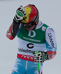 15.02.2013, Planai, Schladming, AUT, FIS Weltmeisterschaften Ski Alpin, Riesenslalom, Herren, 2. Durchgang, im Bild // reacts after his 2nd run of the mens Giant Slalom at the FIS Ski World Championships 2013 at the Planai Course, Schladming, Austria on 2013/02/15. EXPA Pictures © 2013, PhotoCredit: EXPA/ SM