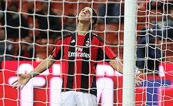 18.09.2010, Giuseppe-Meazza-Stadion, Florenz, ITA, Serie A, AC Mailand vs Catania Calcio, im Bild Il giocatore del Milan ZLATAN IBRAHIMOVIC. EXPA Pictures © 2010, PhotoCredit: EXPA/ InsideFoto/ Alberto Camici +++++ ATTENTION - FOR AUSTRIA AND SLOVENIA CLIENT ONLY +++++ / SPORTIDA PHOTO AGENCY