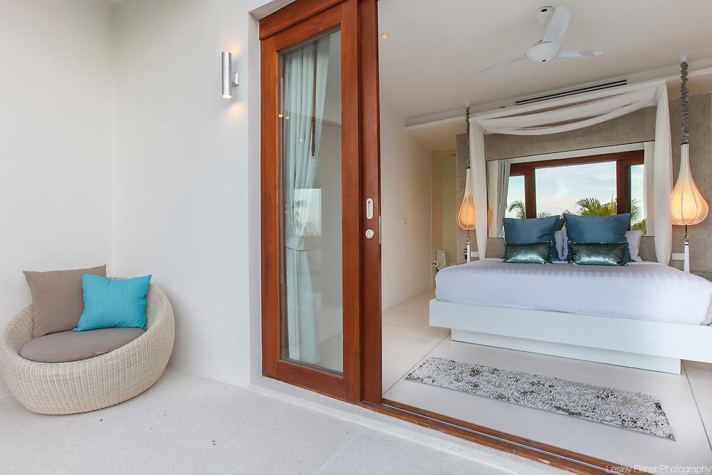 Double bedroom, Villa Kya, a luxury, private villa located in the hills of Bophut, Koh Samui, Thailand