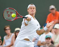 LONDON, ENGLAND - Monday, June 29, 2009: Lleyton Hewitt (AUS) during the Gentlemen's Singles 4th Round match on day seven of the Wimbledon Lawn Tennis Championships at the All England Lawn Tennis and Croquet Club. (Pic by David Rawcliffe/Propaganda)