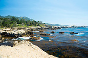 View of China Cove, Point Lobos State Park, near Carmel Highlands, along Highway 1, Monterey County, California.