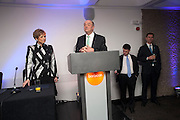 NICK KENYON; DEBORAH BORDA; JEREMY MAYHEW; JEREMY HUNT;  LA Philharmonic reception, Fountain room, Barbican. 27 January 2011 -DO NOT ARCHIVE-© Copyright Photograph by Dafydd Jones. 248 Clapham Rd. London SW9 0PZ. Tel 0207 820 0771. www.dafjones.com.