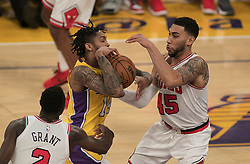 November 21, 2017 - Los Angeles, California, United States of America - Brandon Ingram #14 of the Los Angeles Lakers drives to the basket during their game with the Chicago Bulls on Tuesday November 21, 2017 at the Staples Center in Los Angeles, California. Lakers defeat Bulls, 103-94. JAVIER ROJAS/PI (Credit Image: © Prensa Internacional via ZUMA Wire)