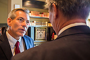 02 JULY 2012 - PARADISE VALLEY, AZ:   Congressman DAVID SCHWEIKERT talks to supporters at a Republican candidate forum in Paradise Valley Monday. Schweikert and Ben Quayle, both conservative freshmen Republican Congressmen from neighboring districts are facing each other in an August primary to see which one will represent Arizona's 6th Congressional District in 2013. The two were thrown into the same district as a result of legislative redistricting. PHOTO BY JACK KURTZ