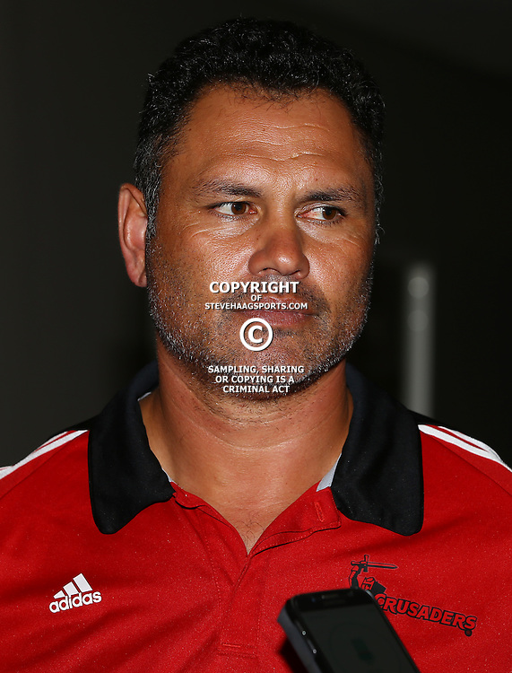 DURBAN, SOUTH AFRICA, 24,MARCH, 2016 - Tabai Matson (Assistant Backs Coach) of the BNZ Crusaders during The Crusaders training session  at Northwood School Durban North in Durban and the Crusaders Media conference, South Africa. (Photo by Steve Haag)<br /> <br /> images for social media must have consent from Steve Haag