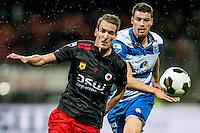 ROTTERDAM - Excelsior - PEC Zwolle , Voetbal , Eredivisie , Seizoen 2016/2017 , Stadion Woudestein , 21-10-2016 , Excelsior speler Kevin Vermeulen (l) in duel met PEC Zwolle speler Ted van de Pavert (r)