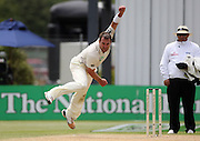 Mark Gillespie in action bowling.<br />New Zealand v West Indies, First Test Match, National Bank Test Series, University Oval, Dunedin, Sunday 14 December 2008. Photo: Andrew Cornaga/PHOTOSPORT