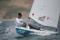 2012 Olympic Games London / Weymouth<br /> Racing day 1 Laser<br /> LaserPORLima Gustavo